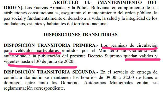 DISPOSICIONES TRANSITORIAS DS 4245